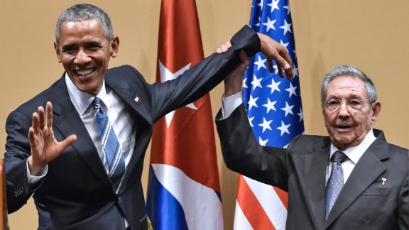 Cuban President Raul Castro tries to lift up Obama