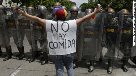 Protesters take to the streets of Caracas, Venezuela