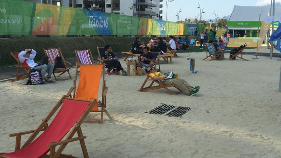 Not got the time to hit the Copacabana? Feel the sand between your toes right outside your front door.
