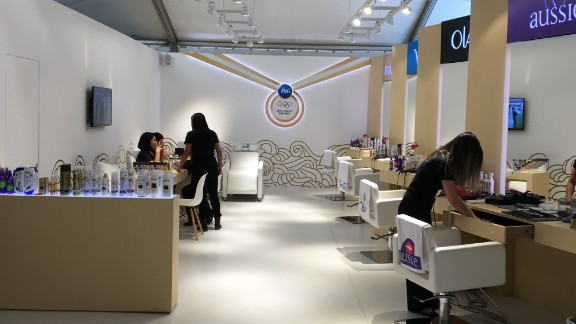 Need to perfect your Opening Ceremony look? Get your hair and nails done at the salon.
