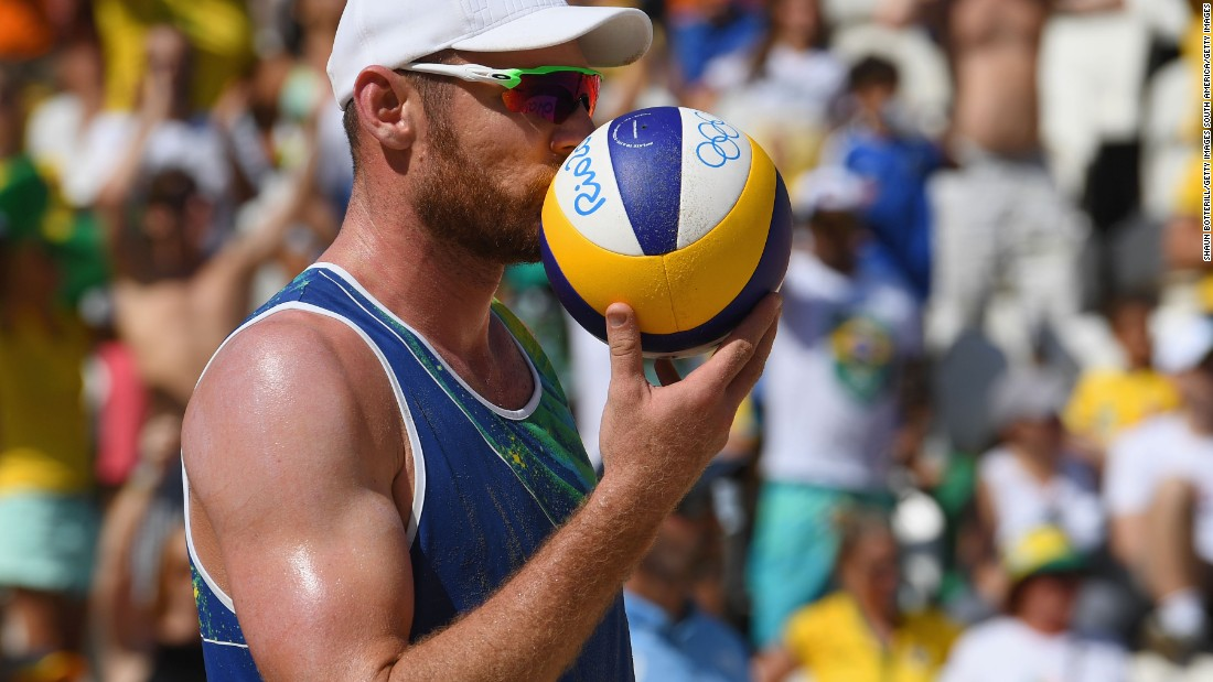 "Cerutti, seen here kissing the ball before kicking it into the crowd at the end of the match, is known as ""the mammoth."""
