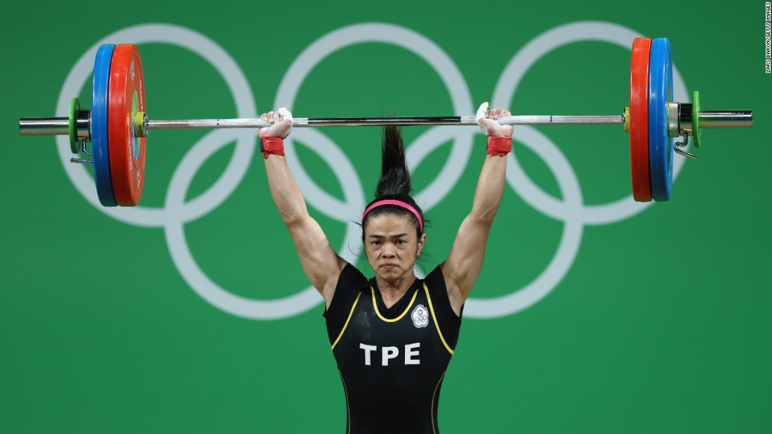 Hsu Shu-Ching of Chinese Taipei won the women's 53 kg Group A weightlifting contest with a total of 212 kg.