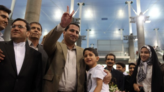 Amiri initially returned to Iran to a hero