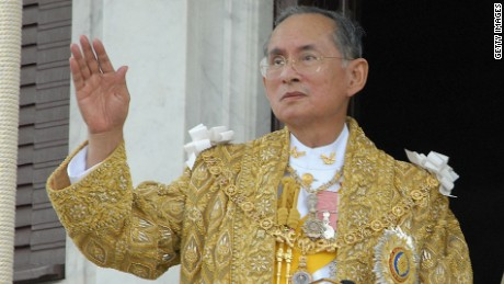 Thailand's King Bhumibol Adulyadej is the world's longest-reigning monarch.