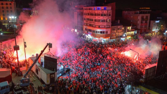 Over a million gathered to support a democratic Turkey, following the failed takeover attempt.