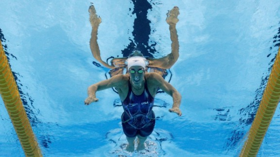 U.S. swimmer Madeline Dirado won her heat to also qualify for the semifinals of the 200-meter individual medley.