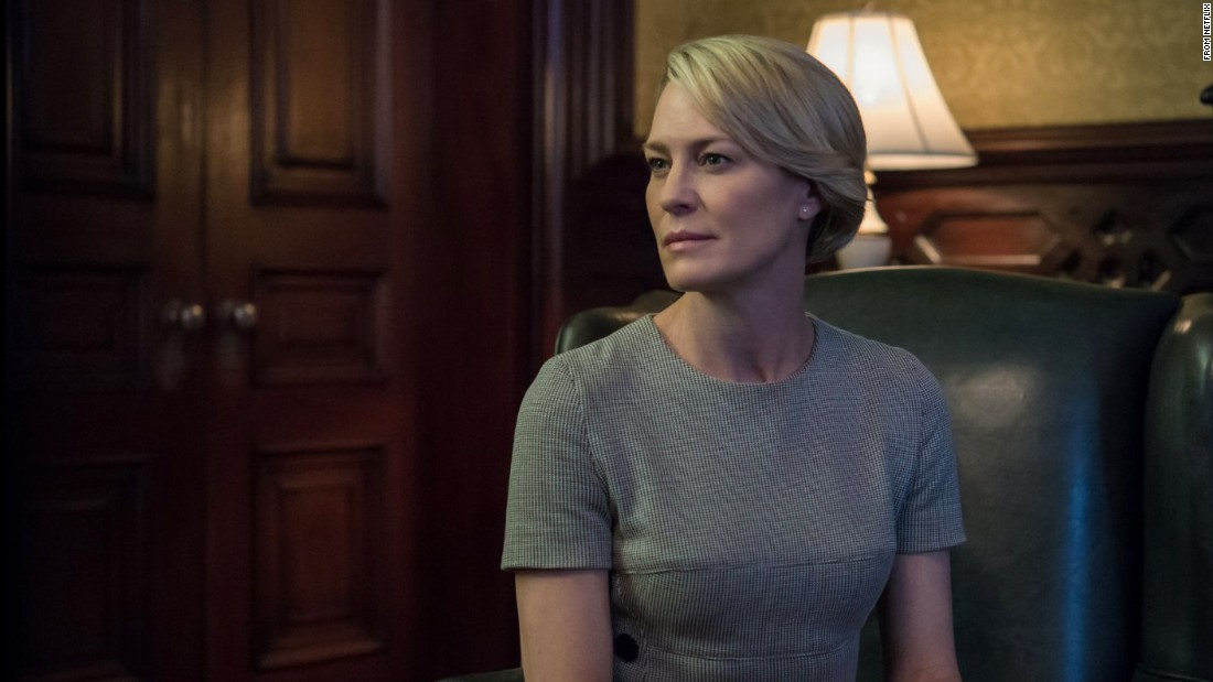 "Robin Wright stars as Claire Underwood in the Netflix series ""House of Cards."" She is introduced to the audience as a lobbyist who runs an environmental nonprofit organization, but in later seasons ascends to the position of US ambassador to the United Nations."