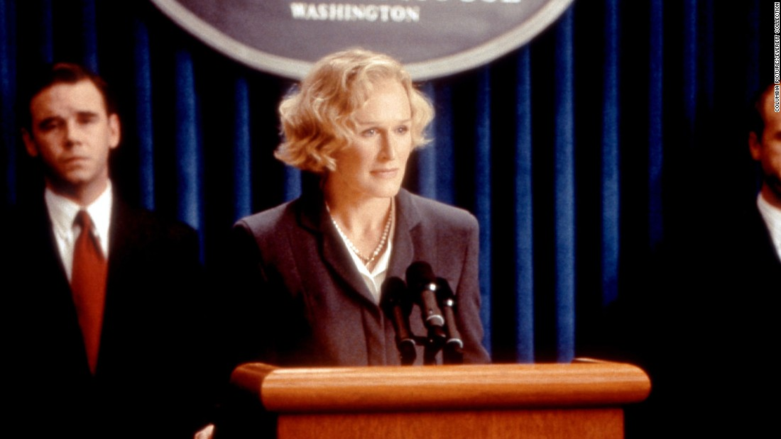 "Glenn Close plays Vice President Kathryn Bennett to Harrison Ford's President James Marshall in the major motion picture ""Air Force One.""<em> </em>While Marshall is held hostage aboard his aircraft, Bennett steps up to deal with the Russian terrorists to ensure the president's safe return."