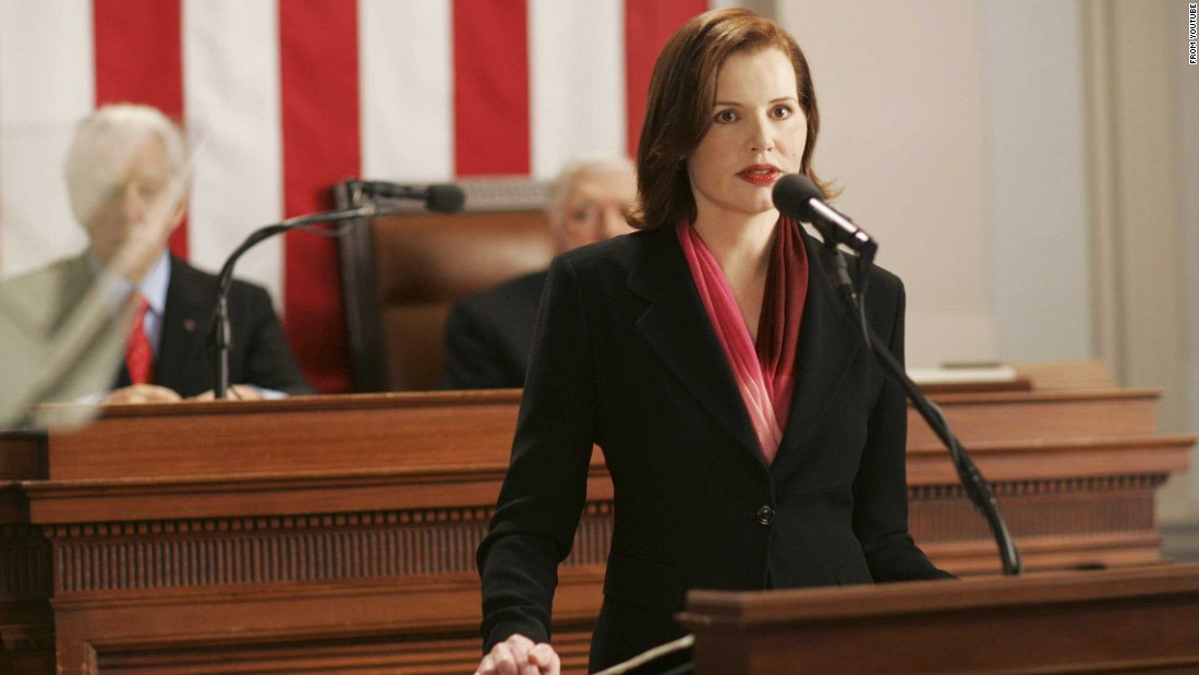 "(Warning: spoilers ahead) Geena Davis plays Mackenzie Allen, the first female president, in ""Commander in Chief,""<em> </em>which aired on ABC for one season in 2005-2006."