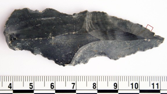 This ancient blade discovered at an oasis in Jordan tested positive for rhino residue.