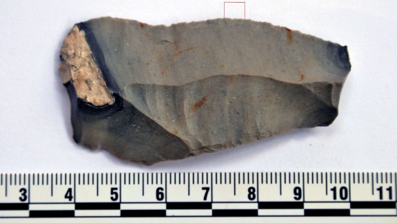 This ancient blade tested positive for camel.