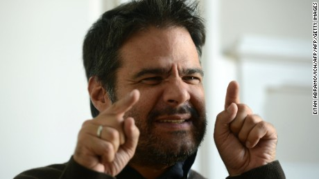 Venezuelan comedian Luis Chataing gestures during an interview with AFP in Buenos Aires, on October 23, 2015. AFP PHOTO / EITAN ABRAMOVICH        (Photo credit should read EITAN ABRAMOVICH/AFP/Getty Images)