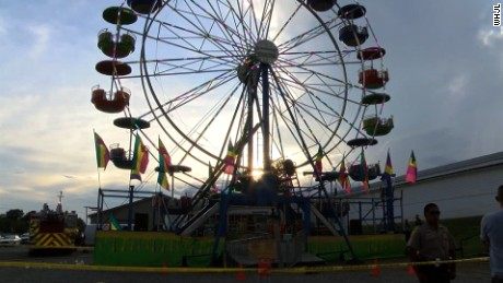 Ferris wheel from which children fell at Greene County Fair in Tennessee