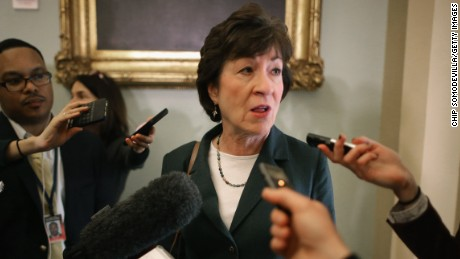 Here's Sen. Susan Collins urging senators to keep mandate to buy insurance. She ultimately voted for the bill anyway.