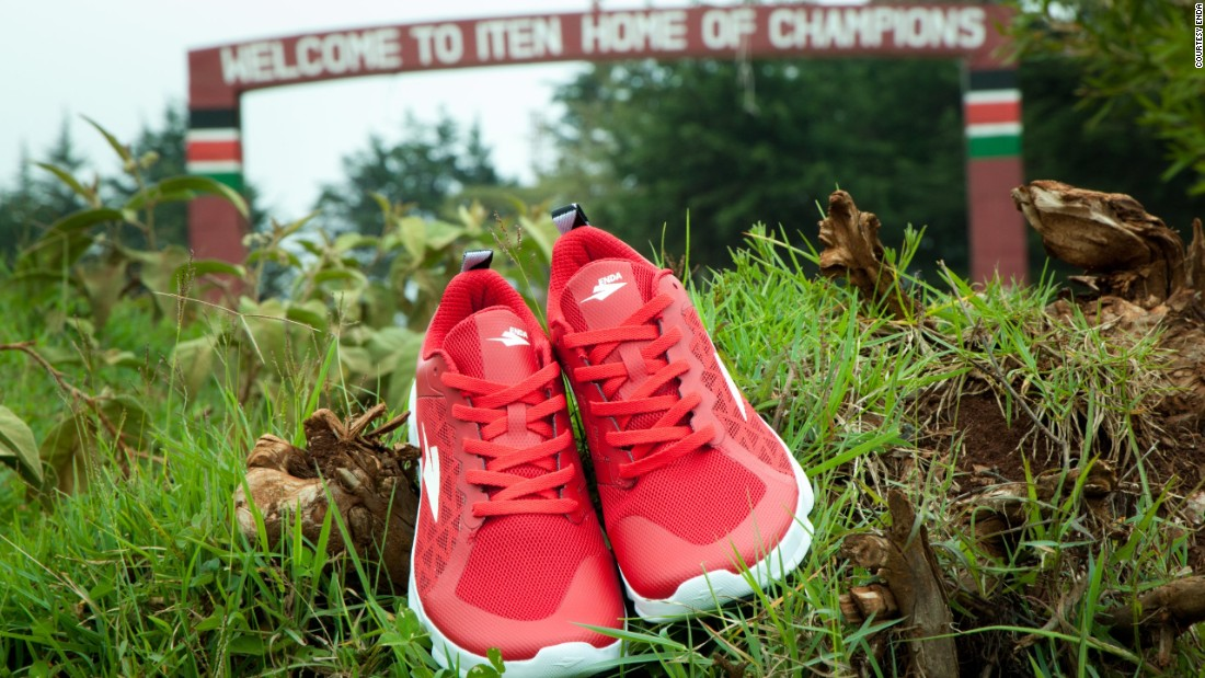Enda Iten shoes are named after a town in Kenya's Rift Valley that is a hub for some of the world's best middle and long distance runners. World champions such as Mo Farah and David Rudisha have trained there.