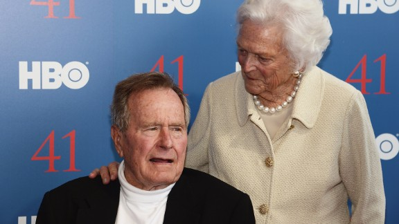 "Film Subject President George H.W. Bush and his wife, Mrs. Barbara Bush attend the HBO Documentary special screening of ""41"" on June 12, 2012 in Kennebunkport, Maine."