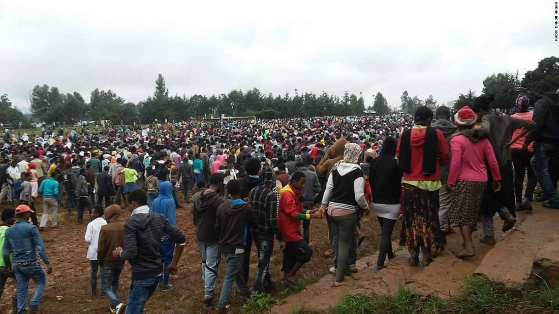 The protests took place in more than 200 towns and villages across Oromia, Ethiopia's largest region, and were attended by hundreds of thousands of people.