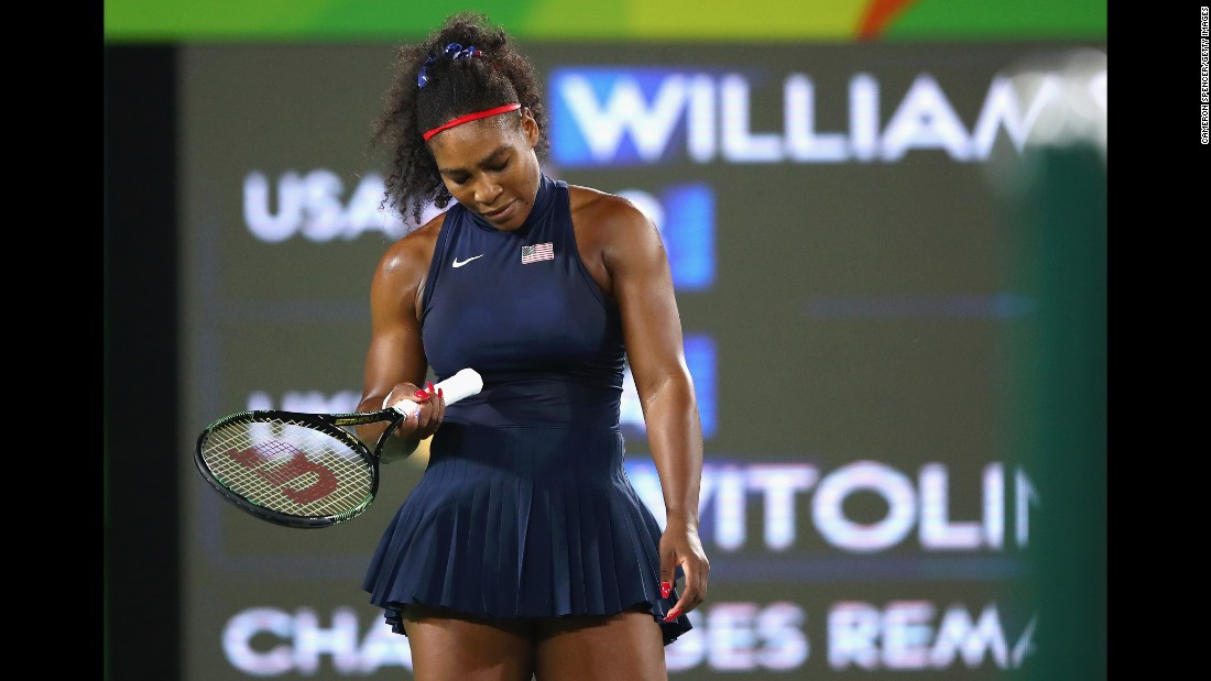 Williams won gold in singles and doubles in the 2012 Olympics. But she is already out of both tournaments in Rio de Janeiro.