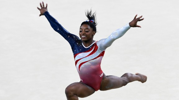 """The move that bears her name is part of a spectacular floor exercise maneuver. """"The Biles"""" is a leap through the air that includes three elements: 1. a double layout (a layout is when the body is stretched out fully); 2. a half-twist, when Biles shifts her weight to turn her body; 3. a blind landing."""