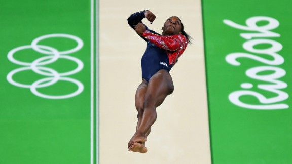 """The Amanar vault has been called """"one of the hardest vaults performed by women."""" Biles has been praised for her consistency and height when performing this move. Here's how it works: As the gymnast runs up to the horse, she hits the mat with her hands into a round-off, then hits her feet onto the spring board to do a back handspring onto the horse. Finally, she flips off the horse into a twisting layout back flip, landing facing the horse."""