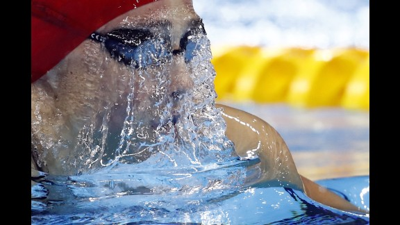 Great Britain's Chloe Tutton competes in the 200-meter breaststroke.
