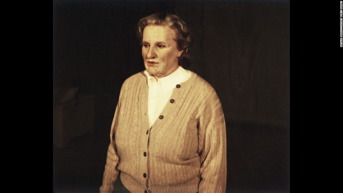 "Williams is shown during a makeup test for what would be the box-office smash ""Mrs. Doubtfire"" in 1993."