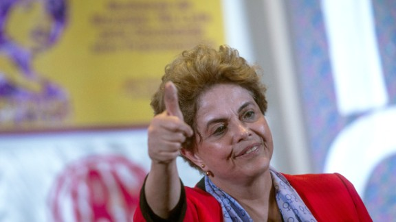 SAO PAULO, BRAZIL - JULY 8: Brazilian suspended President Dilma Rousseff participates in a rally of women in defense of democracy on July 8, 2016 in Sao Paulo, Brazil. (Photo by Victor Moriyama/Getty Images)