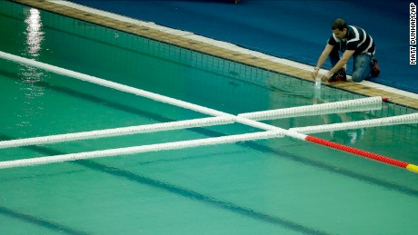 Olympics: Out with the green water, in with the blue