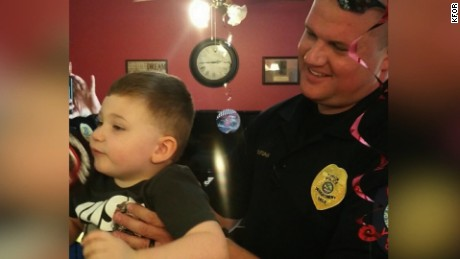 NS Slug: OK: POLICE ATTEND BOY'S BDAY PARTY AFTER NO ONE SHOWS    Synopsis: Yukon, Oklahoma Police make surprise appearance at autistic boy's birthday party    Keywords: OKLAHOMA SPECIAL NEEDS POLICE AUTISM