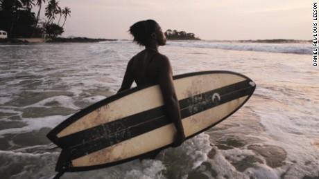 Making waves: Meet KK, the only female surfer in Sierra Leone