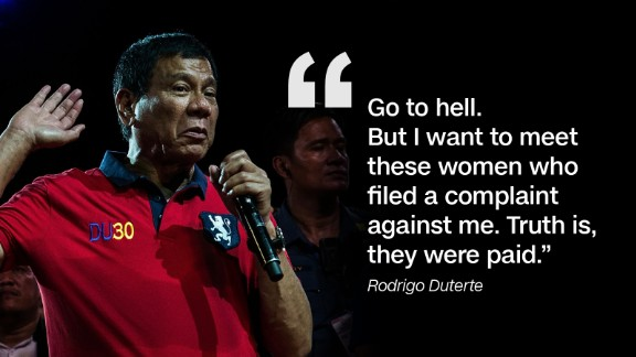 He also lashed out at the womens' group that filed a complaint against him before the Commission on Human Rights (CHR).