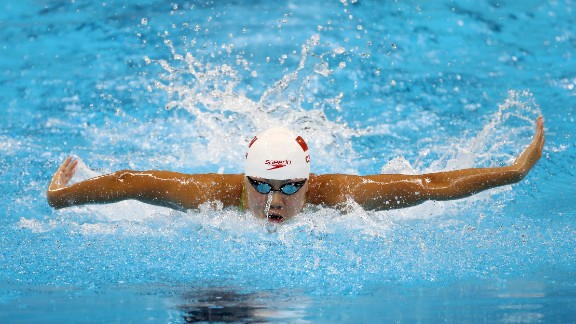 RIO DE JANEIRO, BRAZIL - AUGUST 06:  Xinyi Chen of China competes in heat four of the Women