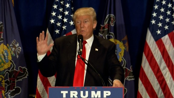 Donald Trump speaks in Altoona