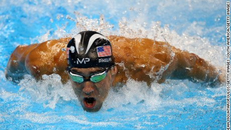 RIO DE JANEIRO, BRAZIL - AUGUST 12:  Michael Phelps of the United States swims for joint silver in the Men's 100m Butterfly Final on Day 7 of the Rio 2016 Olympic Games at the Olympic Aquatics Stadium on August 12, 2016 in Rio de Janeiro, Brazil.  (Photo by Dean Mouhtaropoulos/Getty Images)