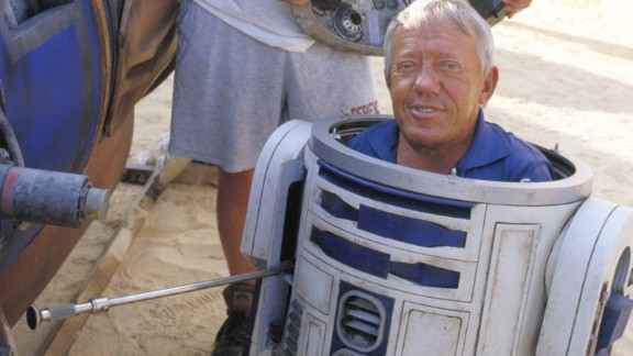 "British actor Kenny Baker, best known for playing R2-D2 in the ""Star Wars"" films, died on August 13, Baker"