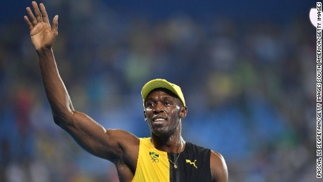 RIO DE JANEIRO, BRAZIL - AUGUST 14:  Usain Bolt of Jamaica waves to the crowd after winning the men's 100m final at the Olympic stadium during the Rio 2016 Olympic Games on August 14, 2016 in Rio de Janeiro, Brazil.  (Photo by Pascal Le Segretain/Getty Images)