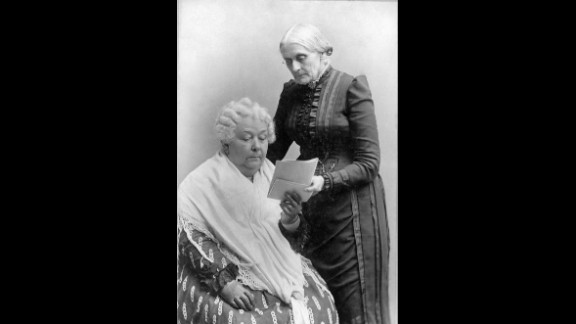 Elizabeth Cady Stanton, left, and Susan B. Anthony were lifelong friends and social reformers who campaigned for women