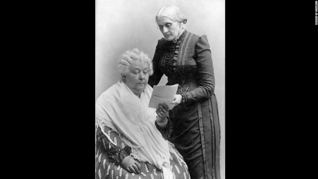 Elizabeth Cady Stanton, left, and Susan B. Anthony were lifelong friends and social reformers who campaigned for women's rights in the United States. The Seneca Falls Convention in 1848, organized by Stanton in her hometown of Seneca Falls, New York, was the first American gathering that specifically addressed a woman's right to vote. But it still took more than 70 years until women's suffrage became guaranteed by the U.S. Constitution, with the ratification of the 19th Amendment in August 1920.