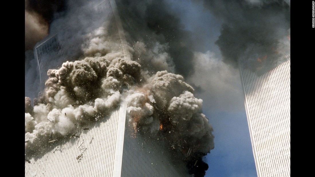 The south tower of the World Trade Center collapsed at 9:59 a.m.