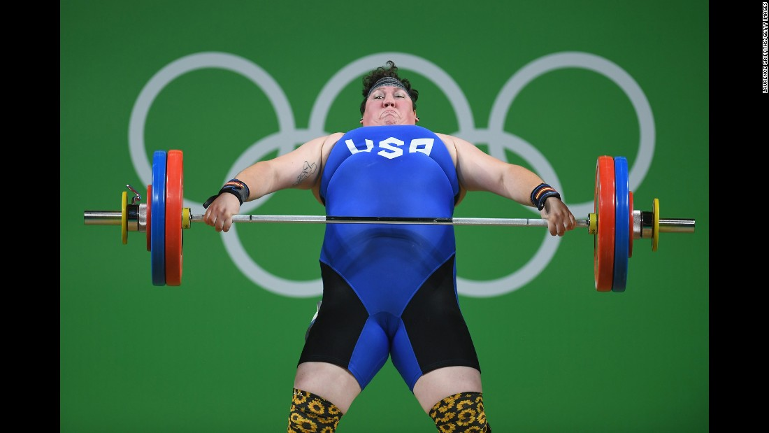 Weightlifter Sarah Robles won bronze for the United States on Sunday, August 14. It was the United States' first weightlifting medal in 16 years.