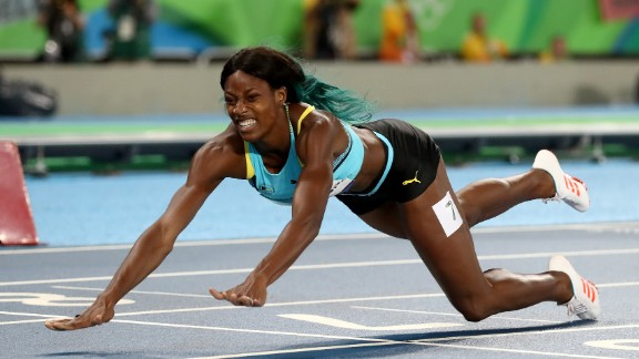In one of the most striking moments of the 2016 Olympics, Miller dived across the line to win 400m gold, edging out Allyson Felix of the US.