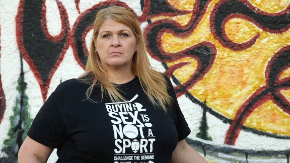 """Debbie Cumby is an outreach worker in Winnipeg, and a former trafficking victim. """"We're controlled by our traffickers,"""" she says. """"You owe money and you have a choice: you get beaten, or killed, or you go out and work."""""""