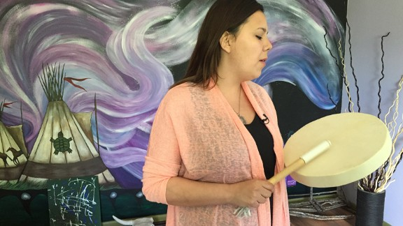"""Tanay Little was just 11 when she was sexually exploited on the streets of Winnipeg. Little Sisters in Winnipeg, a transition home for young sex trafficking victims, sheltered her when she first came off the streets. """"I love this place, I love being here knowing that this place helps women change,"""" she says."""