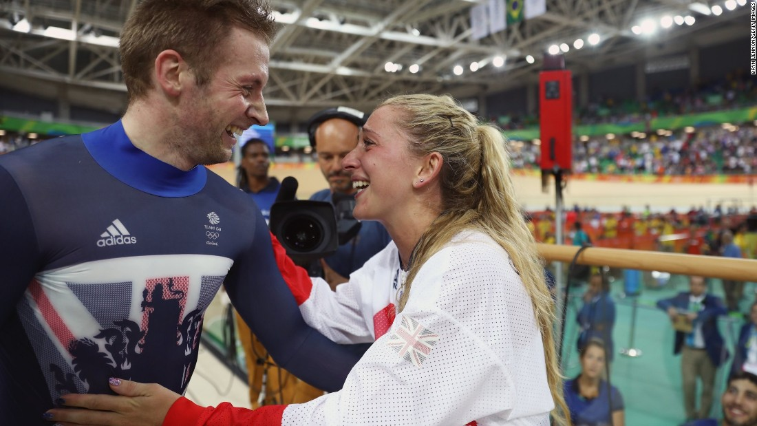 No British athlete in history can boast more Olympic gold medals than Kenny — although Chris Hoy can match his tally of six. Wife Laura (R), owner of four Olympic golds herself, gave birth to a son in September 2017. Prior to the birth of Albert, she was already plotting her return to competitive cycling and qualification for the Games.
