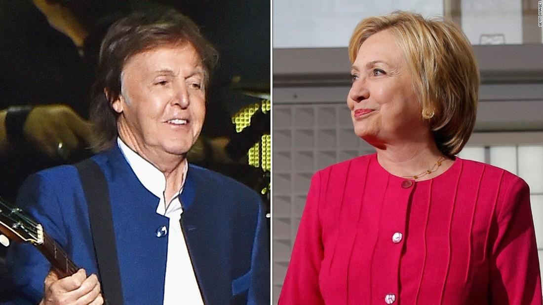 Hillary >> Hillary Clinton, Paul McCartney 'come together' in Ohio - CNNPolitics
