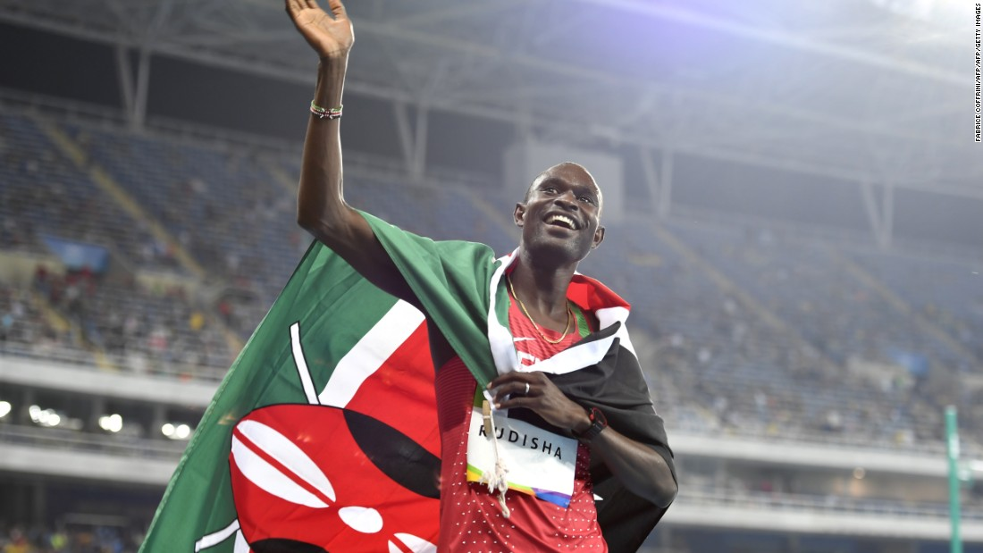 The two-time Olympic 800m champion is the only person in history to complete two laps of the track in under 1m 41s. Six of the eight fastest 800m times in history have all been recorded by the Kenyan superstar.
