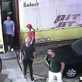 Surveillance swimmers gas station