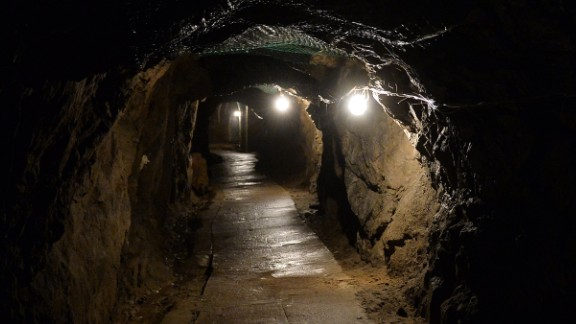 """Underground galleries, part of Nazi Germany """"Riese"""" construction project are pictured under the Ksiaz castle in the area where the """"Nazi gold train"""" is supposedly hidden underground, on August 28, 2015 in Walbrzych, Poland. Poland's deputy culture minister on Friday said he was 99 percent sure of the existence of the alleged Nazi train that has set off a gold rush in the country. AFP PHOTO / JANEK SKARZYNSKI        (Photo credit should read JANEK SKARZYNSKI/AFP/Getty Images)"""