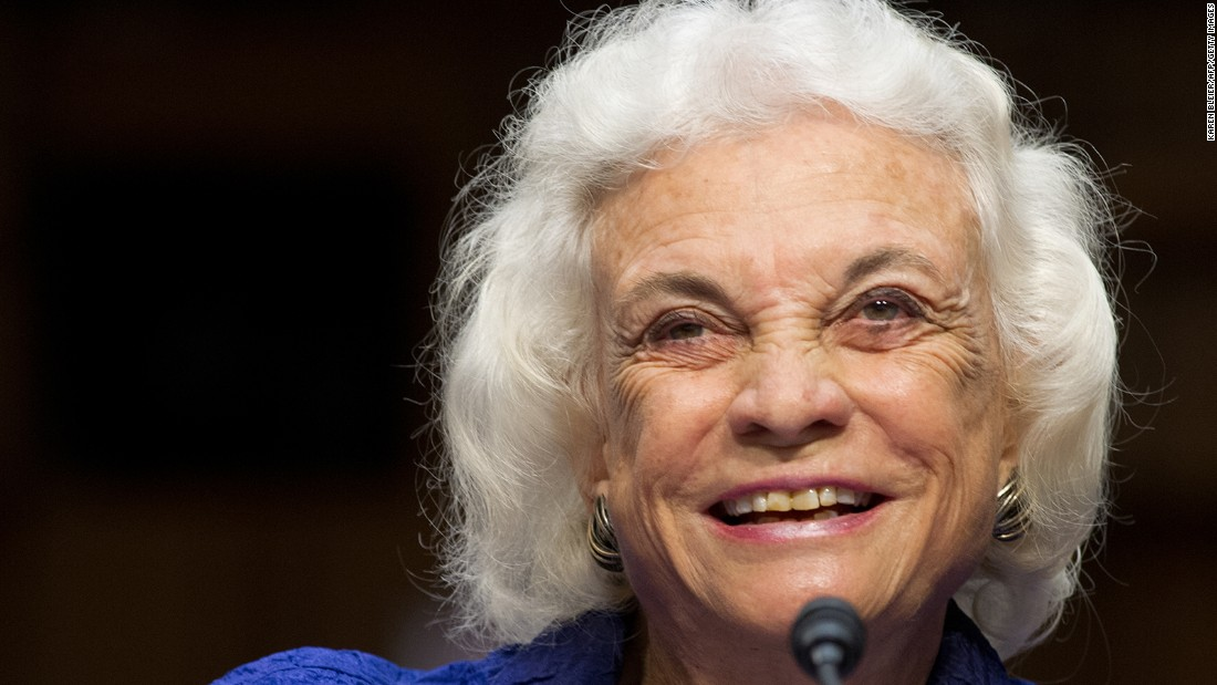Former Supreme Court Justice Sandra Day O'Connor gives testimony before a hearing of the Senate Judiciary Committee in July 2012.