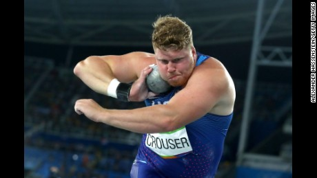 Ryan Crouser set a new Olympic record with his fifth attempt.